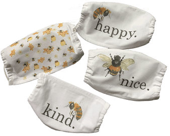 Bees Cotton Mask Set