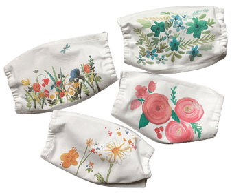 Floral Cotton Mask Set