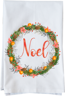 Noel Watercolor Christmas Wreath