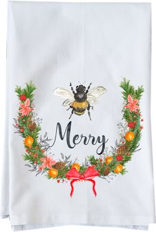 Watercolor Bee Merry