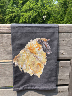 Black Towel with Sheep Head (PRE-ORDER for SEPT delivery)