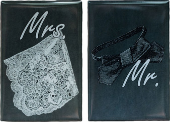 Black Tie Mr. & Mrs. | Set of 2