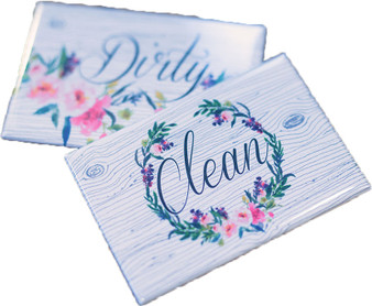 Clean & Dirty Watercolor Floral | Set of 2