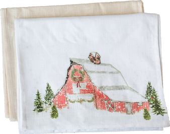 Red Christmas Barn Runner