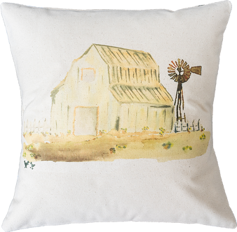 White Barn with Windmill
