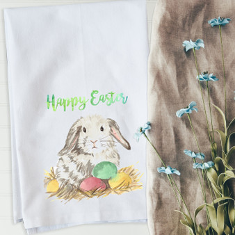 Grey Watercolor Easter Bunny