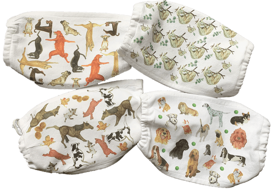 Animal Collage Cotton Mask Set