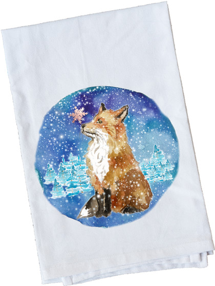Fox With Snowflake