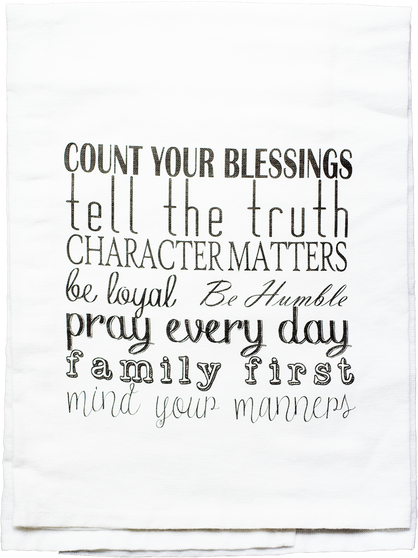 Count Your Blessing | Mind Your Manners