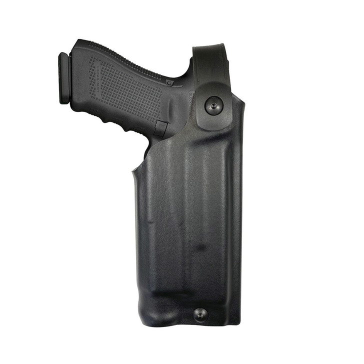 Model US-40 Mid-Ride Level 2 Duty Holster - Rail Mounted Light - Leather