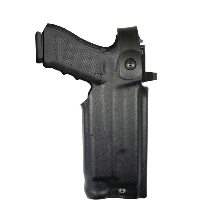 Model US-60 Mid-Ride Level 2 Duty Holster - Rail Mounted Light & RDS - Leather