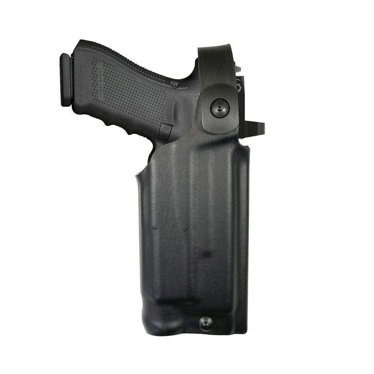 Model US-60 Mid-Ride Level 2 Duty Holster - Rail Mounted Light & RDS - Basketweave