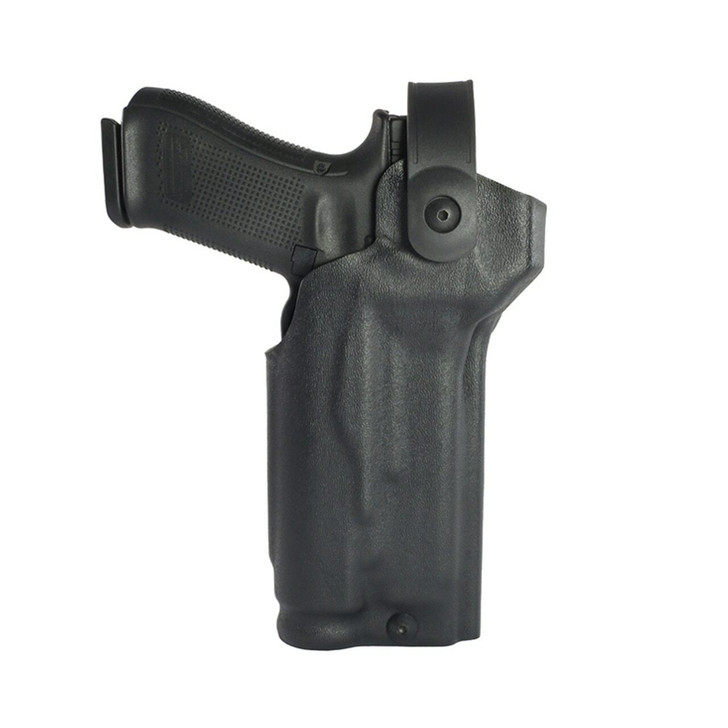 Model US-80 Low-Ride Level 2 Duty Holster - Rail Mounted Light & RDS - Leather