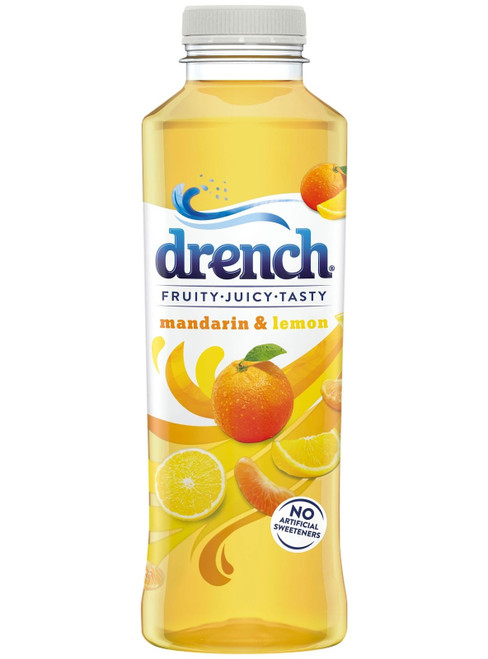 Drench Mandarin & Lemon 500ML x 24