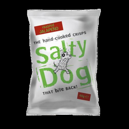 Salty Dog Hand-Cooked Crisps - Jalapeno - 30 x 40g