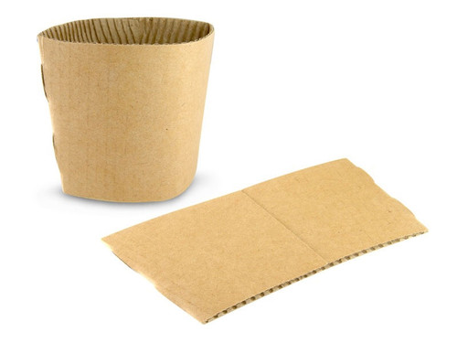 Biodegradable Paper Cup Sleeves - 12 / 16oz x 2000