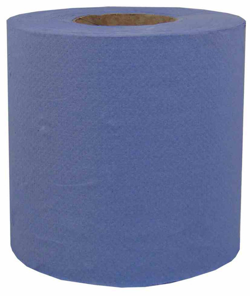 Centre Feed Blue Roll Hand Towels x 6