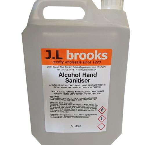 Alcohol Hand Sanitiser Gel 5ltr