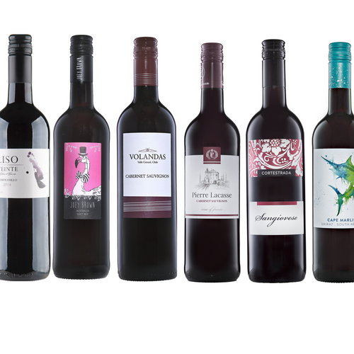 Red Wine MIXED Case - 6 x 75cl Various Countries & Styles