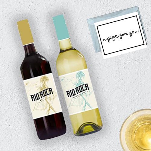 Rio Roca Red & White Wine Gift Box with gift message & box
