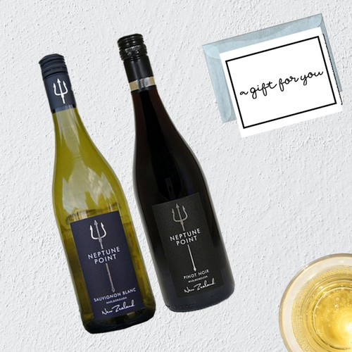Neptune Point Mixed Wine Gift Box  with Gift Message & Box