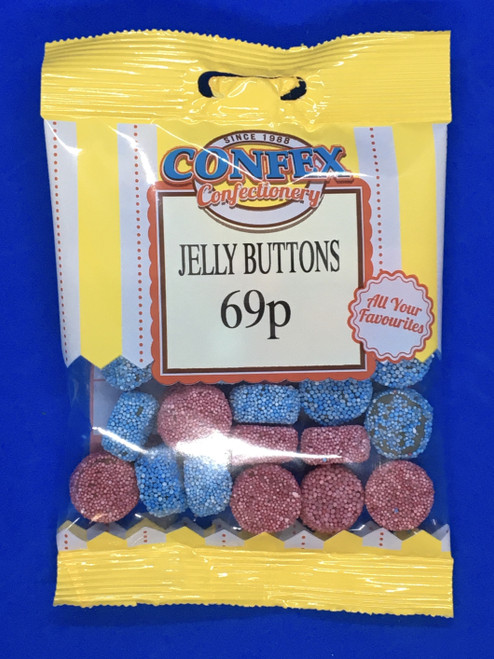 Confex Jelly Buttons 69p Bags x 12