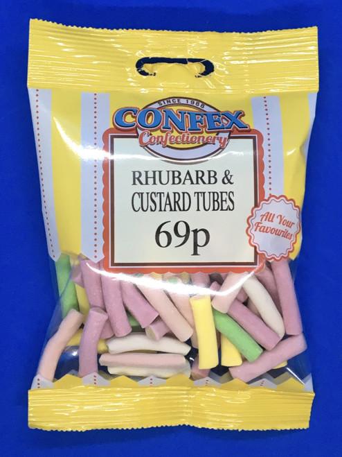 Confex Rhubarb and Custard Tubes 69p x 12