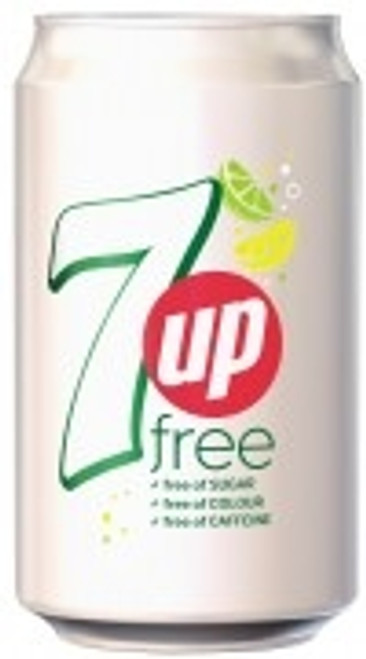 7up Free Cans 330ml x 24
