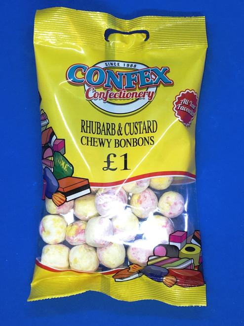 Confex Rhubarb and Custard Chewy Bonbons Bag £1 x 12