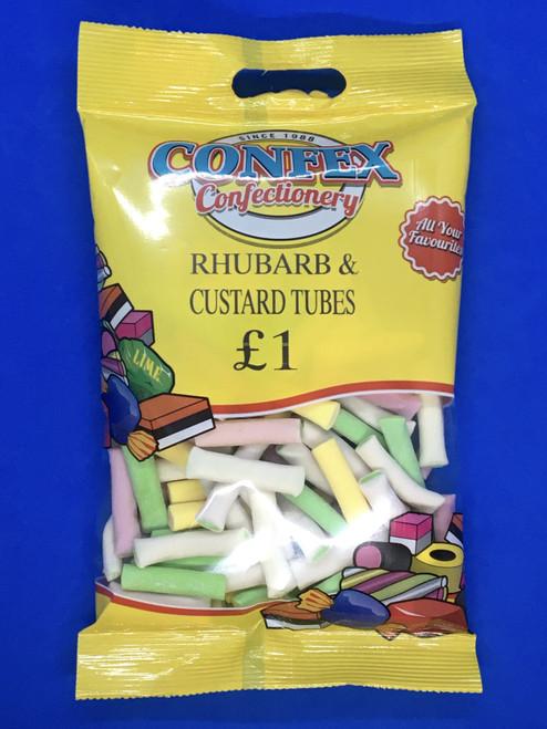 Confex Rhubarb and Custard Tubes £1 Bag x 12