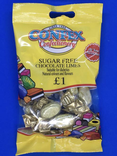 Confex SUGAR FREE Choc Lime £1 Bags x 12