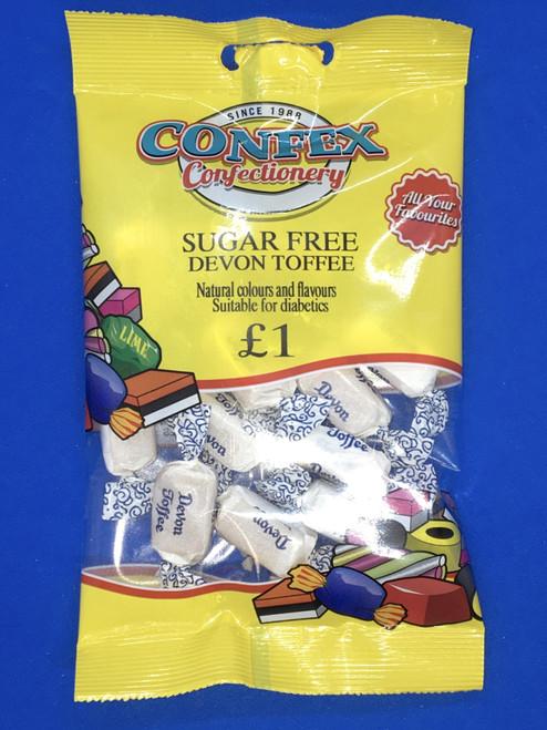 Confex SUGAR FREE Devon Toffee £1 Bags x 12