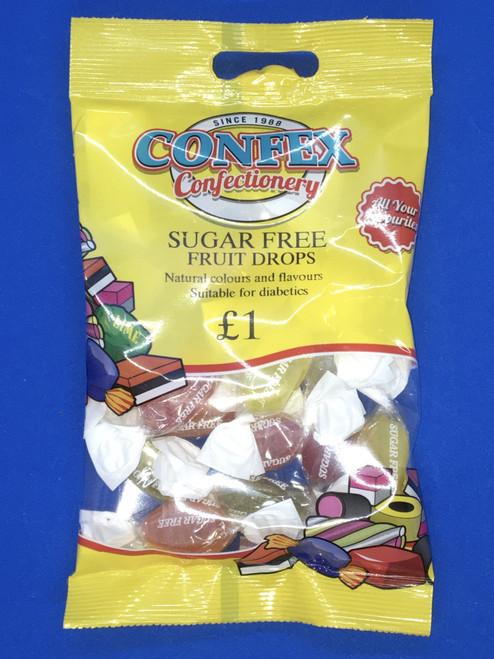 Confex SUGAR FREE Fruit Drops  £1 Bags x 12