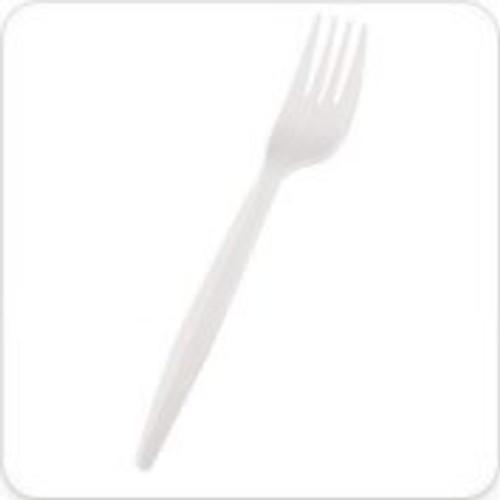 Plastic Disposable Forks White x 100