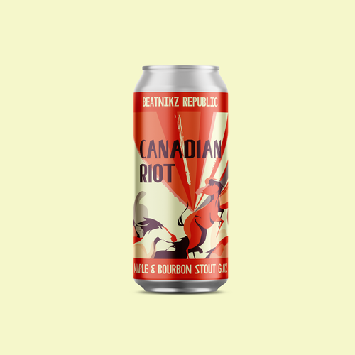 Beatnikz Republic Brewing Co Canadian Riot Craft Beer Can 6% 440ml