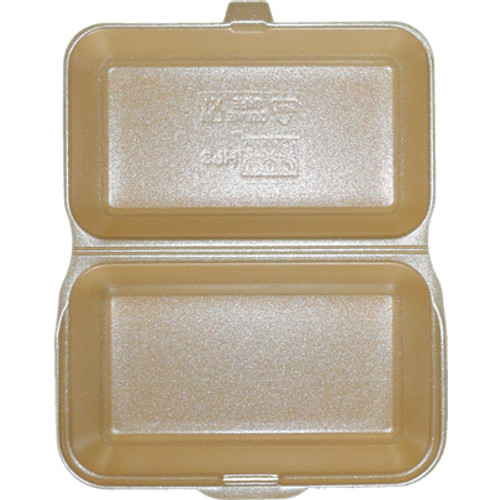 Polystyrene Disposable Takeaway Burger & Chip Trays HP2 x 125