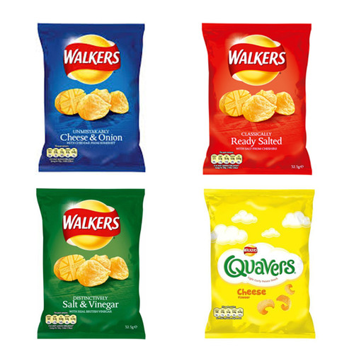 Walkers Crisps Mixed Case 32.5g x 32
