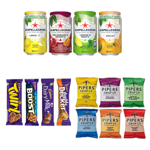 Family Mixed Bundle Deal - Pipers Crisps, Cadburys Chocolate & San Pellegrino Mixed Case