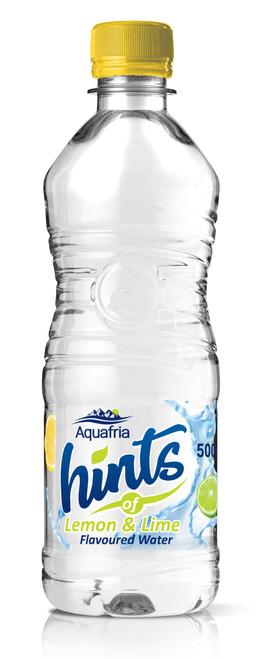 Aquafria Hints Lemon & Lime Flavoured Water Plastic Bottles 500ml x 12