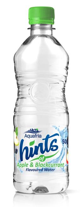 Aquafria Hints Apple & Blackcurrant Flavoured Water Plastic Bottles 500ml x 12
