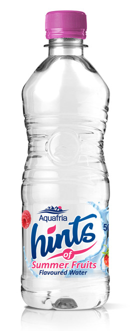 Aquafria Hints Summer Fruits Flavoured Water Plastic Bottles 500ml x 12