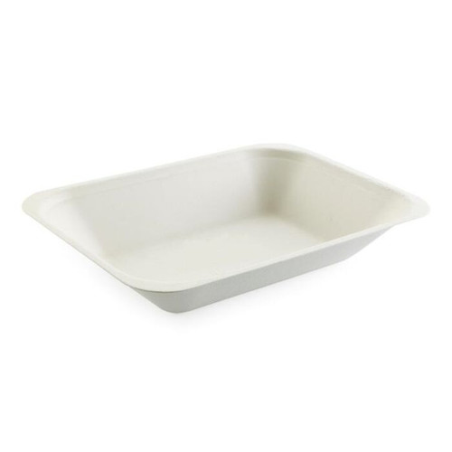 Bagasse Open Meal Trays Medium 185x135mm x 100