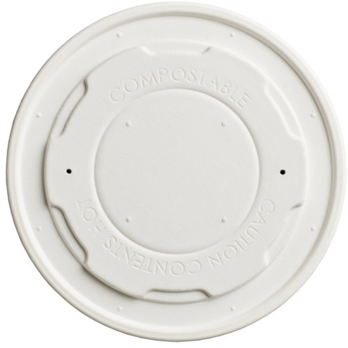 White Compostable Soup Lids 12oz-16oz x 50