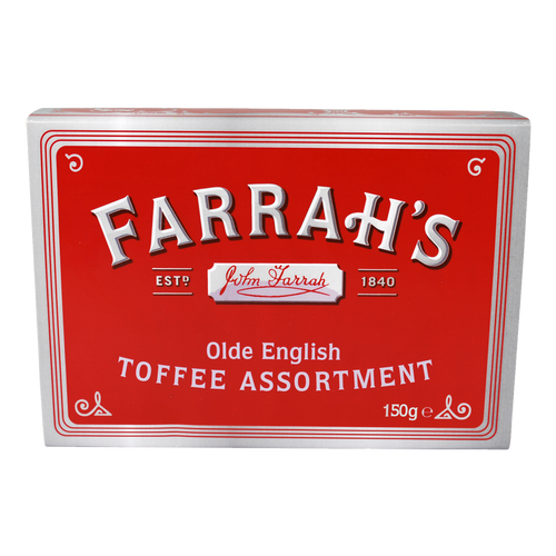 Farrahs of Harrogate Olde English Toffee Assortment Embossed Tin 200g