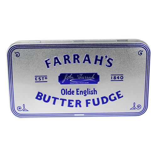 Farrahs of Harrogate Olde English Butter Fudge Embossed Tin 200g