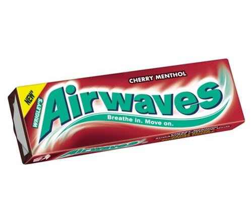 Wrigleys Airways Cherry Menthol Sugar Free Chewing Gum 15g x 30