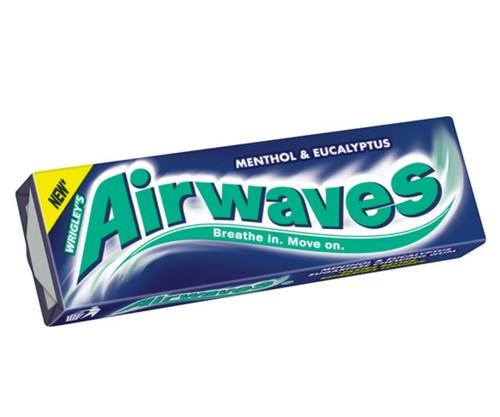 Wrigleys Airways Menthol & Eucalyptus Sugar Free Chewing Gum 15g x 30
