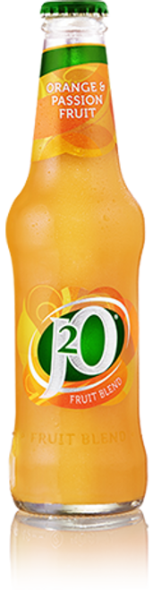 J20 Orange & Passion Fruit Glass Bottles 275ml x 24 - DATED DEC 2020