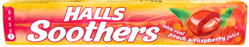 Halls Soothers Peach & Raspberry 45g x 20