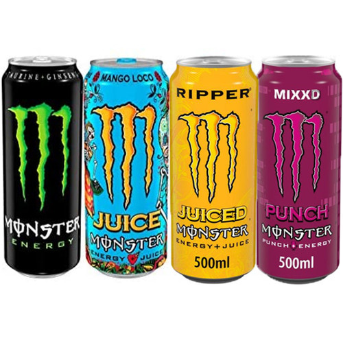 Monster Energy Mixed Case (Non Price Marked) 500ml x 12